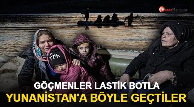 Göçmenler Lastik Botla Yunanistan'a Böyle Geçti