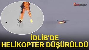 İdlib'de Helikopter Düşürüldü!