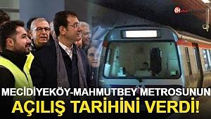 İmamoğlu Metro Hattının Açılış Tarihini Açıkladı