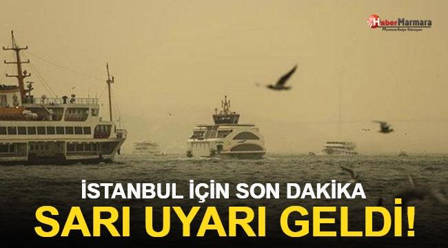 İstanbul İçin Sarı Uyarı!