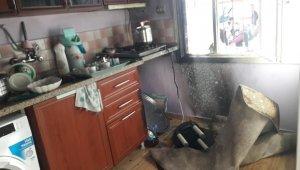 Kahta'da evin mutfağında yangın çıktı