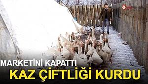 Marketini Kapattı, Kaz Çiftliği Kurdu
