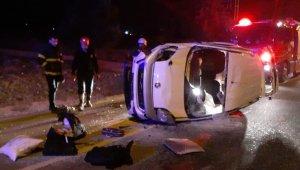 Polisten kaçarken kaza yaptı: Araçtan 30 kilogram esrar çıktı