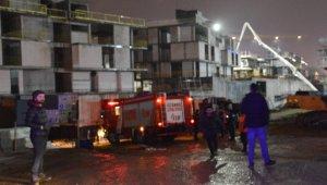 Sarıyer'deki villa inşaatında beton mikseri devrildi: 1 yaralı