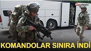 Sınırda Hareketlilik: Komandolar Sınıra İndi