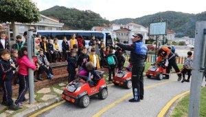 Trafik eğitimi için Marmaris'e geldiler