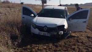 Uzman çavuş trafik kazasında yaralandı