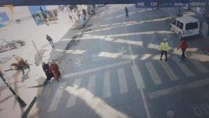 Yayalara öncelik vermeyenlere droneli uygulama