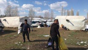 Akşehir Belediyesinden geçici tarım işçilerine yardım