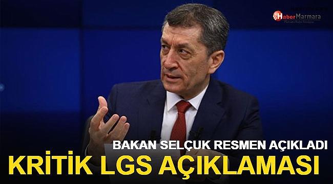 Bakan Selçuk'tan LGS İle İlgili Son Dakika Açıklaması!