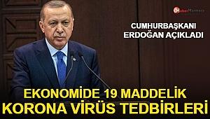 Cumhurbaşkanı Erdoğan Açıkladı: Ekonomide 19 Maddelik Koronavirüs Tedbirleri