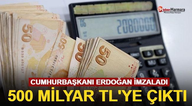 Cumhurbaşkanı Erdoğan İmzaladı! 500 Milyar TL'ye Çıktı