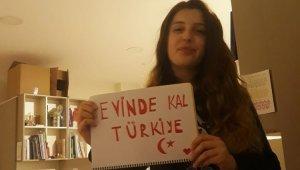 Farklı milletten öğrencilerin 'Evde kal Türkiye' çağrısı