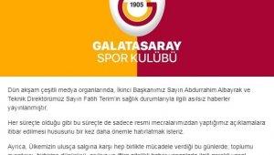 """Galatasaray'dan koronavirüs açıklaması: """"Fatih Terim ve Abdurrahim Albayrak..."""""""