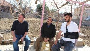 İdlib gazisi Sivas'taki baba evine geldi