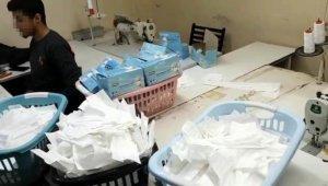 İstanbul'da 1 milyon adet sahte maske üreten atölyeye basıldı