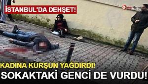 Kadına Kurşun Yağdırdı! Sokaktaki Genci de Vurdu!