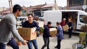 KATSO'dan 'Evde kal' çağrısında uyan ihtiyaç sahibi ailelere gıda yardımı