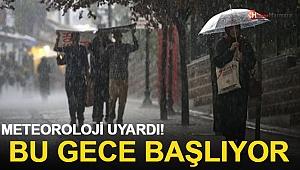 Meteoroloji İstanbul İçin Uyardı! Bu Gece Başlıyor...