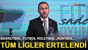 Türkiye'de Ligler Süresiz Ertelendi!
