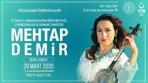 """YTB'den """"Dünyadaki Türkler Evinizde"""" mottosuyla dijital konserler"""