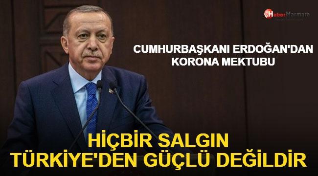 Cumhurbaşkanı Erdoğan'dan Flaş Korona virüs Açıklaması