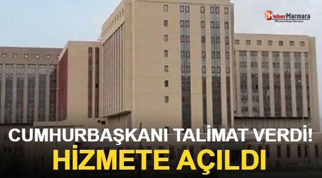 Cumhurbaşkanı Erdoğan Talimat Verdi! Hizmete Açıldı