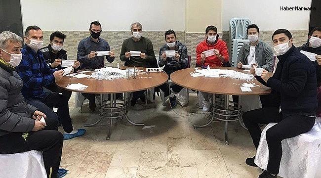 Ereğli Belediyespor maske yapımına destek verdi
