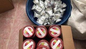 Gaziantep'te 413 kilo kaçak nargile tütünü ele geçirildi