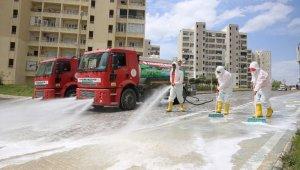Karaköprü'de her gün bir mahalle dezenfekte ediliyor