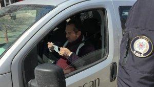 Keşan'da polisten şehir merkezinde ateş ölçer ile kapsamlı denetim