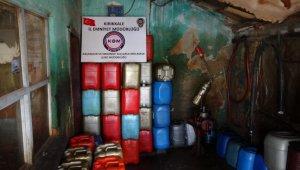 Kırıkkale'de 768 litre kaçak mazot ele geçirildi