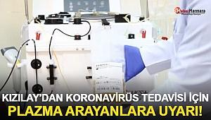 Kızılay'dan Koronavirüs Tedavisi İçin Plazma Arayanlara Uyarı