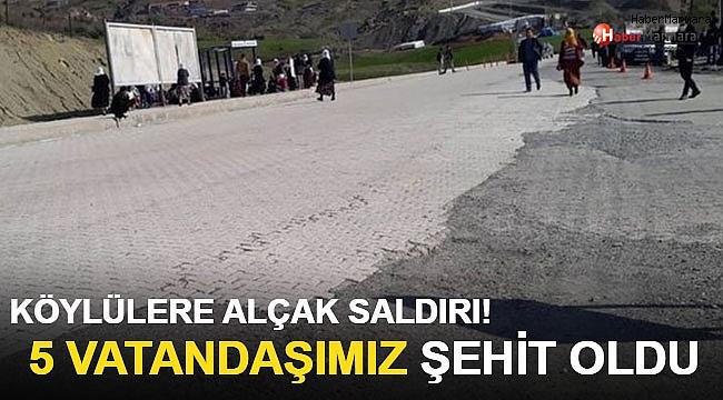 PKK Köylülere Saldırdı! 5 Vatandaşımız Şehit Oldu Operasyon Başlatıldı