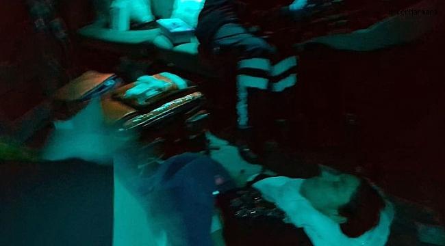 Polis helikopteri doğum yapan kanamalı hasta için gece uçtu