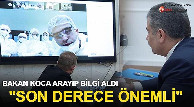 Sağlık Bakanı Koca, Covid-19 Hastalarını Tedavi Eden Hekimlerle Görüştü