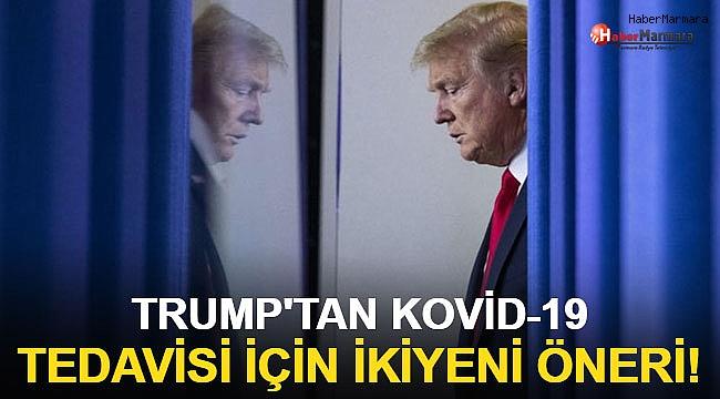 Trump'tan Kovid-19 tedavisi için iki yeni öneri