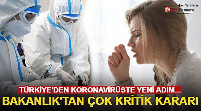 Türkiye'den Koronavirüste Yeni Adım! Bakanlık'tan Çok Kritik Karar