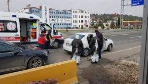 Yol kontrolünde korona virüs şüphesi taşıyan bir kişi karantinaya alındı