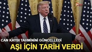 ABD Başkanı Trump, Kovid-19 can kaybı tahminini güncelledi