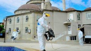 Alanya'da ibadet alanları dezenfekte edildi