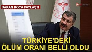 Bakan Koca son dakika duyurdu: Türkiye'deki ölüm oranı belli oldu