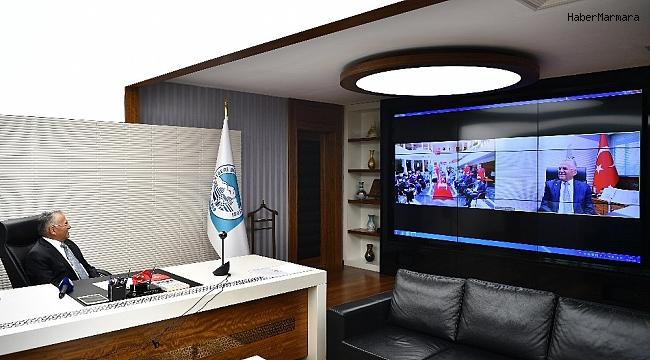 Başkan Büyükkılıç, yaşlıların bayramını telekonferansla kutladı