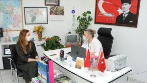 Başkan Çalkaya'dan hem ziyaret hem hizmet