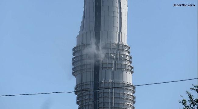 Çamlıca kulesinde yangın! Ekipler bölgede