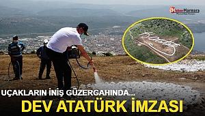 Dev Atatürk imzası! Uçakların iniş güzergahında...
