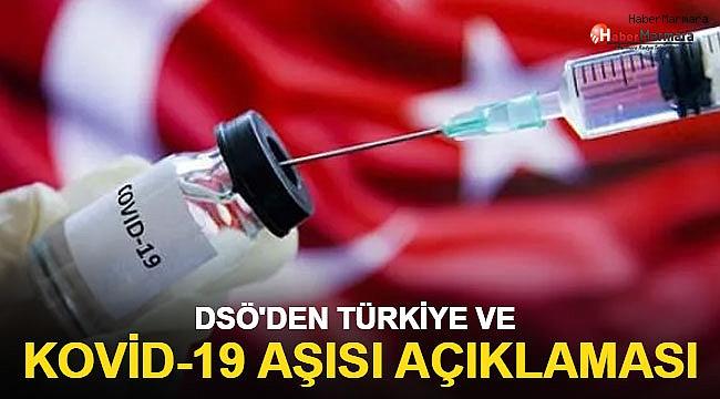 DSÖ'den Türkiye ve Kovid-19 aşısı açıklaması