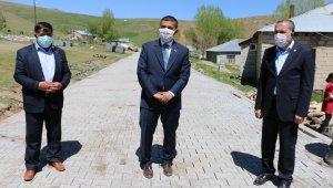 Erciş Belediyesinden parke taşı döşeme çalışması
