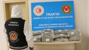 Hamzabeyli Gümrük Kapısı'nda iki valiz dolusu uyuşturucu yakalandı