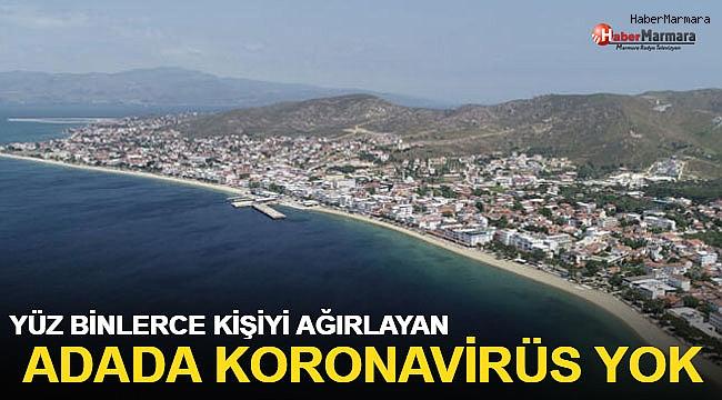 Her yaz yüz binlerce kişiyi ağırlayan Adada koronavirüs vakası görülmedi